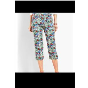 Talbots perfect skimmer crop pants floral womens